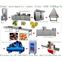 Quality China factory price YIXUN cake machine 100kg - 150kg / h muffin cupcake custard madeleine cake production line machinery wholesale