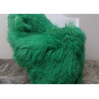 Quality Luxury Soft Dyed Mongolian Sheepskin Rug For Bed Sofa Decorative Throw Blankets  wholesale