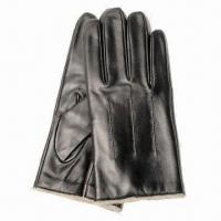 China Men's Sheepskin Leather Gloves, Ideal for Daily Use on sale