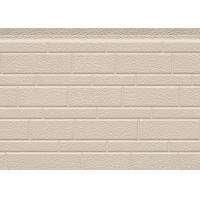 Quality 38 Kg / M3 Embossed Exterior PU Sandwich Wall Panel Thermal Insulation 380mm wholesale