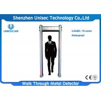 Quality Waterproof Multi Zone Door Frame Metal Detector , Walk Through Safety Gate Out Door Use wholesale