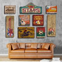 Quality Wooden Tin Signs Home Bar Hotel Club Wall Art Painting Plaque Party Public Decor Vintage Style  Abstract wood carved wholesale