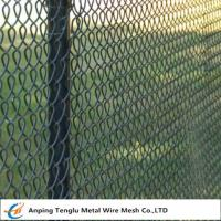 China Color Chain Link Fence|50x50mm Opening Vinyl Coated Wire Fencing for Construction on sale