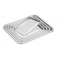 Quality Food Grade Perforated Baking Tray Stainless Steel Material With Round Hole wholesale