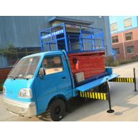 Quality 3.5km/h Walking speed Truck-Mounted Scissor Lift  with 6 - 12 m Lifting Height wholesale
