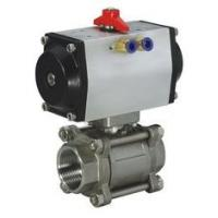 """Quality 1/4"""" - 4"""" Pneumatic Ball Valves Water Oil Gas Acid SS Ball Valve -20℃ - 190℃ wholesale"""