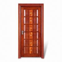 Cheap mahogany wooden exterior door with uv coated solid for Cheap front door and frame