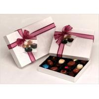 Quality Neat Choclate Custom Packaging Boxes With Ribbon , Packaging Cardboard Boxes wholesale