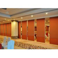 China Folding Sound Proof Partition Wall / Movable Divider Walls Hotel Decorated on sale