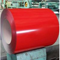 China 0.37 X 1219 Mm Prepainted Galvalume Steel Coil For House Roofing Akzo Nobel Paint on sale