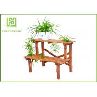 Quality Standing Outdoor Durable Bamboo Flower Pots Garden Shelves For Home wholesale