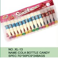 Quality Sweet Straw Bottle Cola Sugar Powder Candy With Different Flavor / Color wholesale