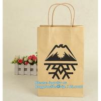 Quality Cheap small paper gift bags Promotional Luxury OEM Design Gold Foil Logo Wedding Custom Paper Gift Bag with Ribbon PACK wholesale