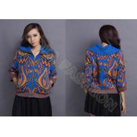 Quality Autumn Wool Women Jacquard Sweaters Cowl Neck Cardigan With Zipper for Young Ladies wholesale