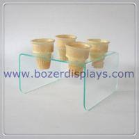Elegant Acrylic Display Stand For Ice Cream Cones for sale