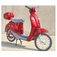 China Hand Brake 350w Electric Moped Bike With Permanent Magnet Brushed DC Motor on sale