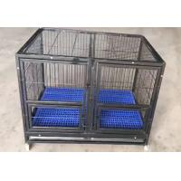 Quality folding heavy duty wire tube dog cage with wheels for large dogs(Whatsapp +86 13331359638) wholesale