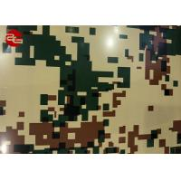China Coated Color Prepainted Steel Coil Durable With Brick / Camouflage Pattern on sale