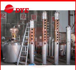 Quality 1000L Moonshine Pot Still For Making Alcohol , Vodka Distillation Equipment CE wholesale