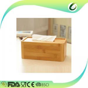 China bamboo wood restaurant tissue box on sale