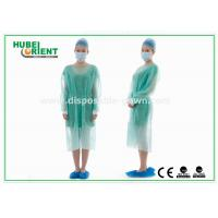 China Disposable Protective Sterilized Surgical Gown / Disposable Isolation Gown with Knitted Wrist on sale