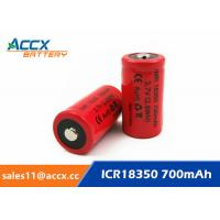 Cheap ICR18350 700mAh 3.7V li-ion battery 18350 for led, cordless phone, home application for sale