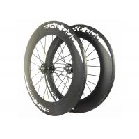 Quality BIKEDOC Sticker Fixed Gear Wheels 88MM V Brake Carbon Track Bicycle Wheel wholesale