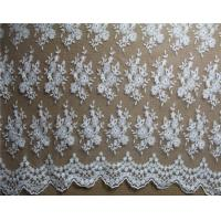 Quality Diamond Mesh based Crown Style Embroidery Lace Fabric Crown for Women's Clothes wholesale