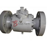 China Forged Steel Three Piece Ball Valve Trunnion Mounted Soft Seated 150LB - 2500LB on sale