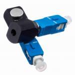 Quality Blue Round SC Bare Network Fiber Optic Adapter Single Mode UPC Polishing wholesale