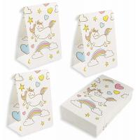 Quality 36 Packs Kraft Gift Bags / Kraft Paper Bags 5.2x8.7x3.3 Inches For Unicorn Party wholesale