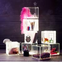 Quality Light weight Acrylic Storage Boxes , decoration clear display boxes wholesale