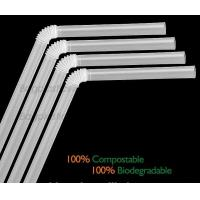 Quality Disposable Paper Straws Pure white Drinking Straws party straw, PLA plastic drinking straw wholesale