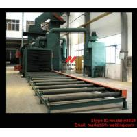 Cheap Steel Plate / H Beam Shot Blasting Machine For Cleaning And Blasting Before Sanding and Painting for sale