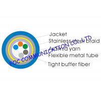 Quality 6Core Armored Optic Fiber Cable Tight Buffer Metal Tube and Metal Braid wholesale