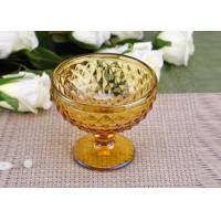 Quality Yellow Stemware popular wedding glass candle holders Bowl Shape wholesale