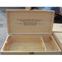 Quality Wooden double wine box wholesale