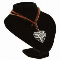 China 2013 leather necklace with heart shape stand, for gift purposes  on sale