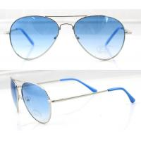 Quality Fashion Handcrafted Blue Metal Frame Sunglasses , Vogue Sun Glasses wholesale