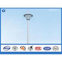 Quality Hot Dip Galvanized Monopole cell Tower Steel Telecommunication Pole 20 - 50m Height wholesale