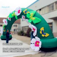 Buy cheap Lovely Oxford 10m Inflatable Flower Arch for Children and Plant Event product
