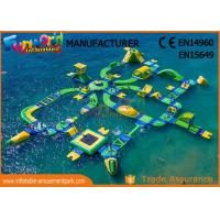 Quality 0.9mm Vinyl Custom Inflatable Water Parks For Outside Entertainment wholesale