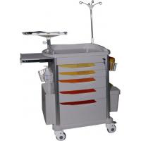 Quality Hospital Emergency Trolley Equipment Luxurious ABS Plastic Drawer Cart With Wheels Drug delivery cart wholesale