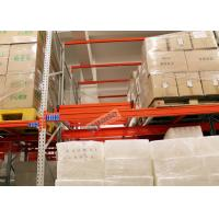 Quality Beverage Industry Push Back Rack Orange Double Deep Pallet Racking Heavy Duty wholesale