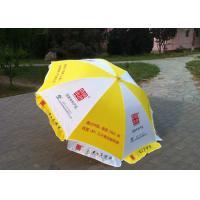 Quality Yellow And White Big Outdoor Umbrella , Commercial Custom Market Umbrellas wholesale