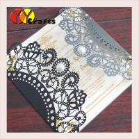 Quality wedding invitation card hot sale black card with round buckle envelope seal wholesale