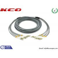 Quality Multi Mode LC to LC 6 Cores Armored Fiber Optic Patch Cord Insertion Loss 0.2dB 3.0 mm Diameter wholesale