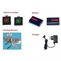 Quality Electric Rechargeable Heated Gloves System: Batteries + LED Button+Charger+Heating Element wholesale