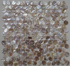 Quality Multicolor Round Shell Mosaic Tile Backsplash For Kitchen Decoration wholesale