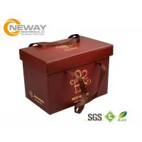 Quality Custom Gift  Food Boxes , Deluxe Customized Artpaper Handle Cake Box With PVC Window wholesale